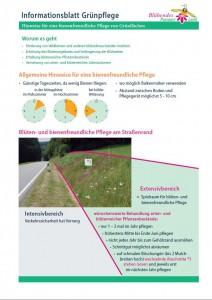 Infoblatt Grünpflege